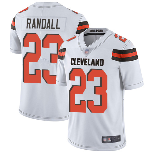 Cleveland Browns Damarious Randall Men White Limited Jersey 23 NFL Football Road Vapor Untouchable