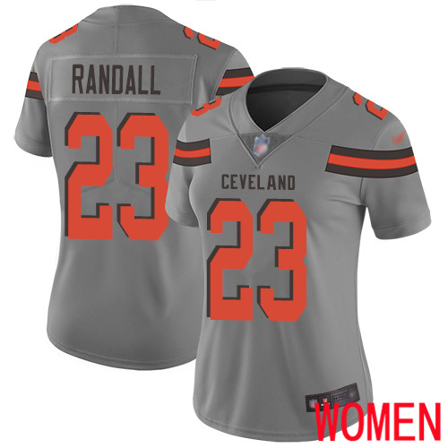 Cleveland Browns Damarious Randall Women Gray Limited Jersey 23 NFL Football Inverted Legend