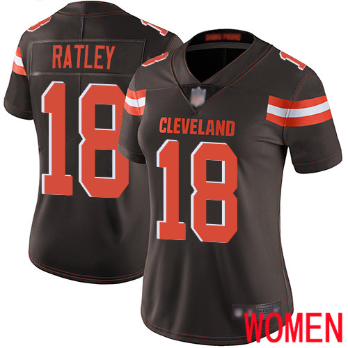 Cleveland Browns Damion Ratley Women Brown Limited Jersey 18 NFL Football Home Vapor Untouchable