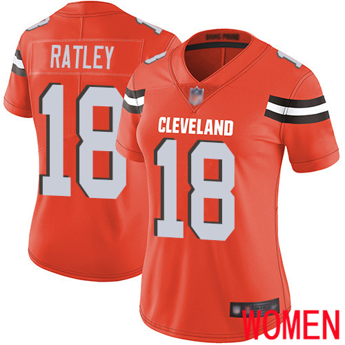 Cleveland Browns Damion Ratley Women Orange Limited Jersey 18 NFL Football Alternate Vapor Untouchable