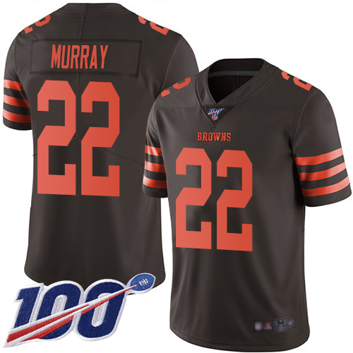 Cleveland Browns Eric Murray Men Brown Limited Jersey 22 NFL Football 100th Season Rush Vapor Untouchable