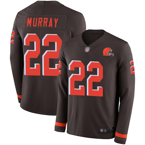 Cleveland Browns Eric Murray Men Brown Limited Jersey 22 NFL Football Therma Long Sleeve