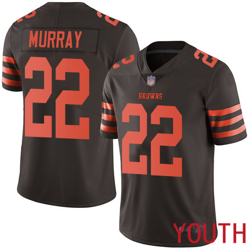 Cleveland Browns Eric Murray Youth Brown Limited Jersey 22 NFL Football Rush Vapor Untouchable