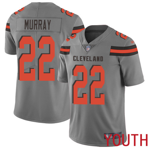 Cleveland Browns Eric Murray Youth Gray Limited Jersey 22 NFL Football Inverted Legend