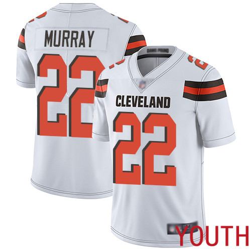 Cleveland Browns Eric Murray Youth White Limited Jersey 22 NFL Football Road Vapor Untouchable