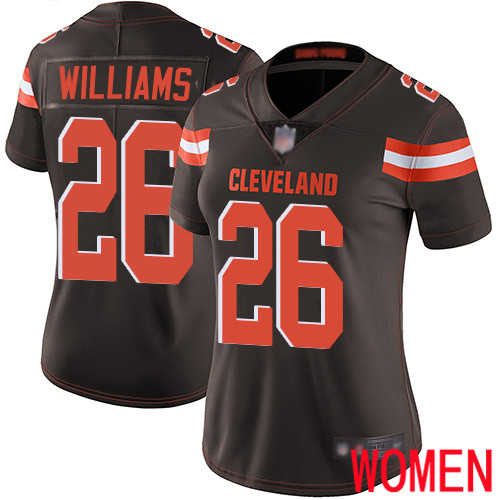 Cleveland Browns Greedy Williams Women Brown Limited Jersey 26 NFL Football Home Vapor Untouchable