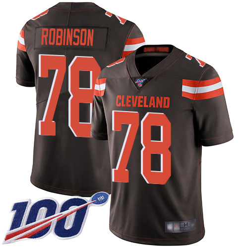 Cleveland Browns Greg Robinson Men Brown Limited Jersey 78 NFL Football Home 100th Season Vapor Untouchable