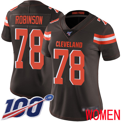Cleveland Browns Greg Robinson Women Brown Limited Jersey 78 NFL Football Home 100th Season Vapor Untouchable