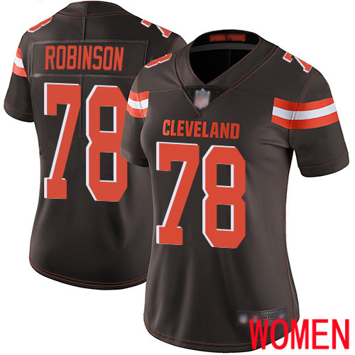 Cleveland Browns Greg Robinson Women Brown Limited Jersey 78 NFL Football Home Vapor Untouchable