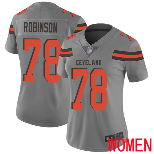 Cleveland Browns Greg Robinson Women Gray Limited Jersey 78 NFL Football Inverted Legend