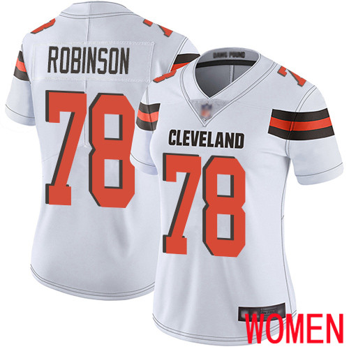 Cleveland Browns Greg Robinson Women White Limited Jersey 78 NFL Football Road Vapor Untouchable