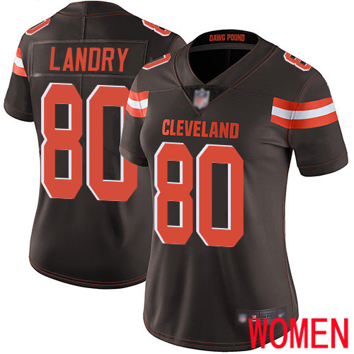 Cleveland Browns Jarvis Landry Women Brown Limited Jersey 80 NFL Football Home Vapor Untouchable
