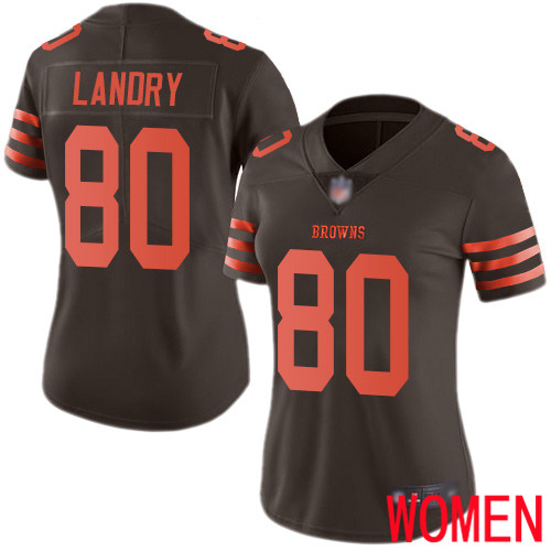 Cleveland Browns Jarvis Landry Women Brown Limited Jersey 80 NFL Football Rush Vapor Untouchable