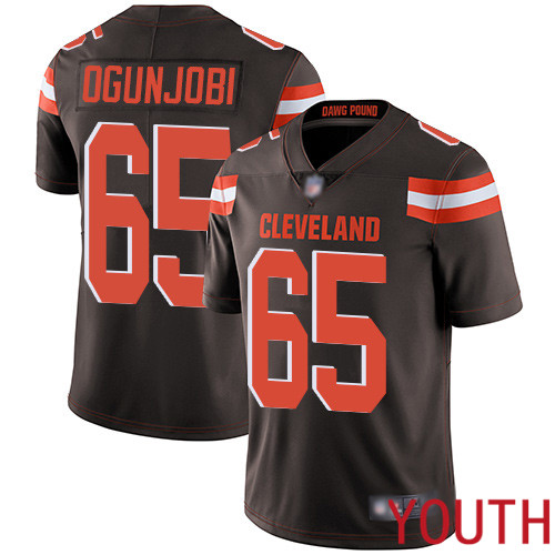 Cleveland Browns Larry Ogunjobi Youth Brown Limited Jersey 65 NFL Football Home Vapor Untouchable
