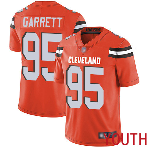 Cleveland Browns Myles Garrett Youth Orange Limited Jersey 95 NFL Football Alternate Vapor Untouchable