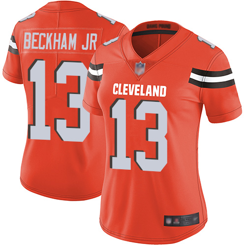 Cleveland Browns Odell Beckham Jr Women Orange Limited Jersey 13 NFL Football Alternate Vapor Untouchable