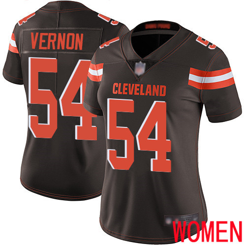 Cleveland Browns Olivier Vernon Women Brown Limited Jersey 54 NFL Football Home Vapor Untouchable