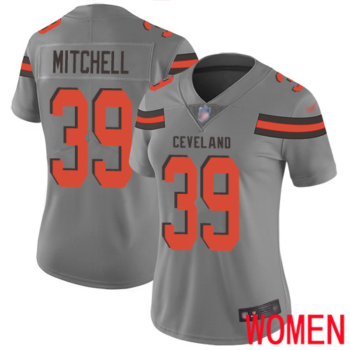 Cleveland Browns Terrance Mitchell Women Gray Limited Jersey 39 NFL Football Inverted Legend