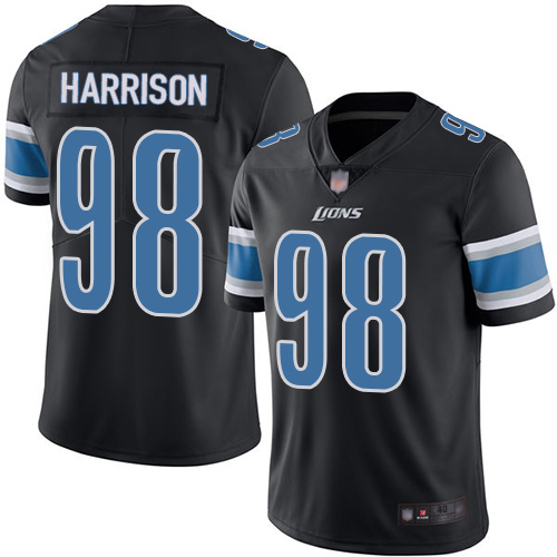 Detroit Lions Limited Black Men Damon Harrison Jersey NFL Football 98 Rush Vapor Untouchable