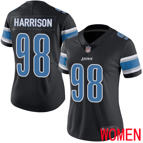 Detroit Lions Limited Black Women Damon Harrison Jersey NFL Football 98 Rush Vapor Untouchable