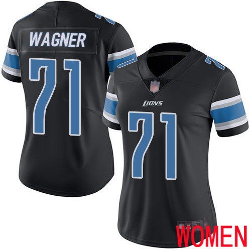 Detroit Lions Limited Black Women Ricky Wagner Jersey NFL Football 71 Rush Vapor Untouchable