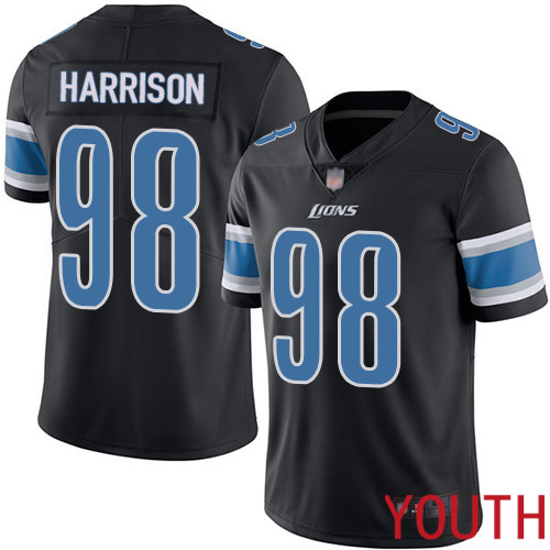 Detroit Lions Limited Black Youth Damon Harrison Jersey NFL Football 98 Rush Vapor Untouchable