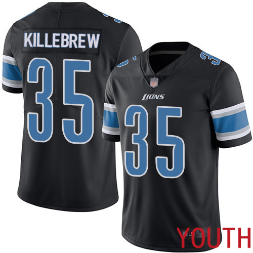 Detroit Lions Limited Black Youth Miles Killebrew Jersey NFL Football 35 Rush Vapor Untouchable