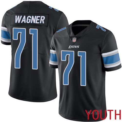 Detroit Lions Limited Black Youth Ricky Wagner Jersey NFL Football 71 Rush Vapor Untouchable