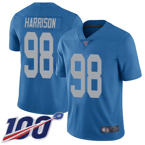 Detroit Lions Limited Blue Men Damon Harrison Alternate Jersey NFL Football 98 100th Season Vapor Untouchable