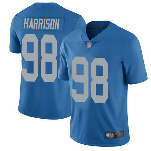 Detroit Lions Limited Blue Men Damon Harrison Alternate Jersey NFL Football 98 Vapor Untouchable