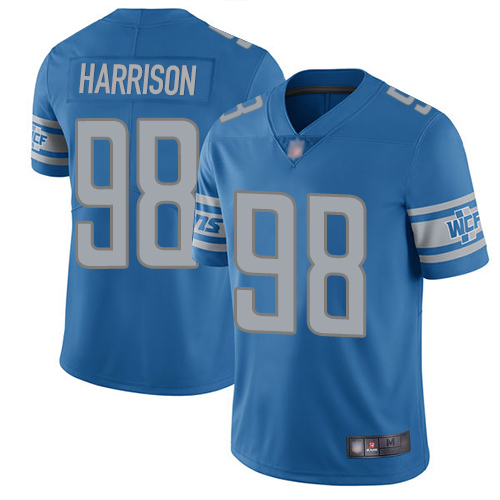 Detroit Lions Limited Blue Men Damon Harrison Home Jersey NFL Football 98 Vapor Untouchable