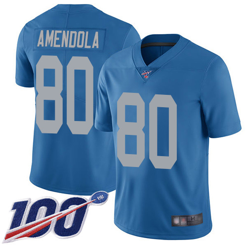 Detroit Lions Limited Blue Men Danny Amendola Alternate Jersey NFL Football 80 100th Season Vapor Untouchable