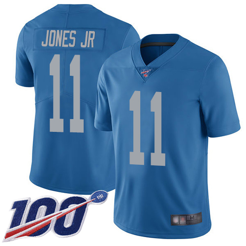 Detroit Lions Limited Blue Men Marvin Jones Jr Alternate Jersey NFL Football 11 100th Season Vapor Untouchable