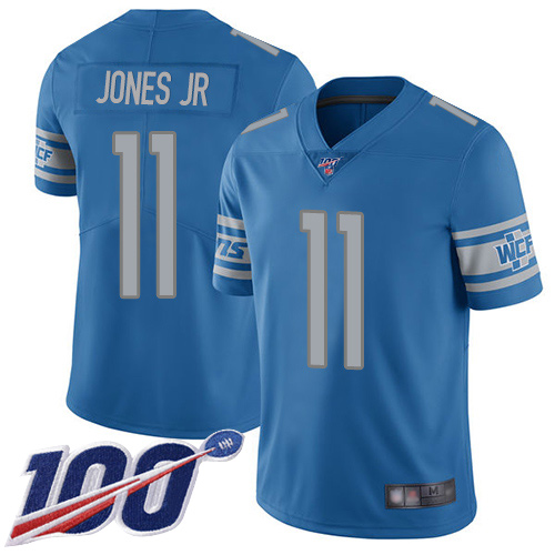 Detroit Lions Limited Blue Men Marvin Jones Jr Home Jersey NFL Football 11 100th Season Vapor Untouchable