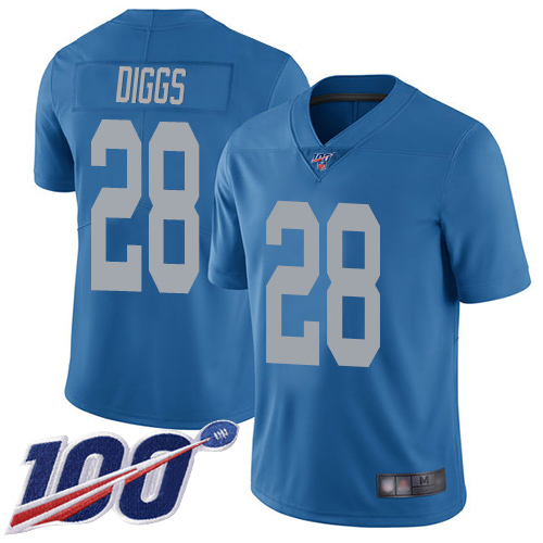 Detroit Lions Limited Blue Men Quandre Diggs Alternate Jersey NFL Football 28 100th Season Vapor Untouchable