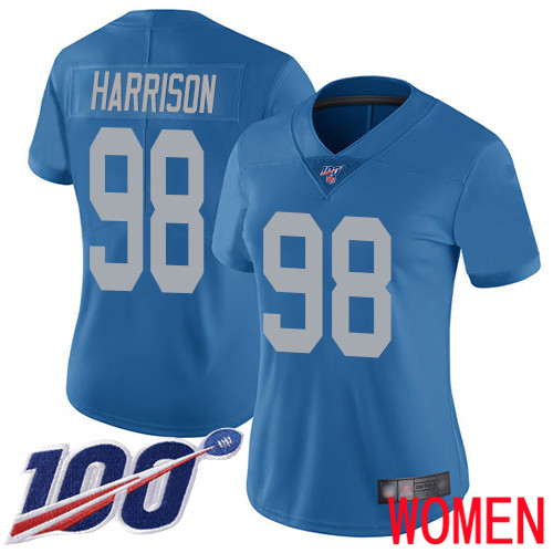 Detroit Lions Limited Blue Women Damon Harrison Alternate Jersey NFL Football 98 100th Season Vapor Untouchable