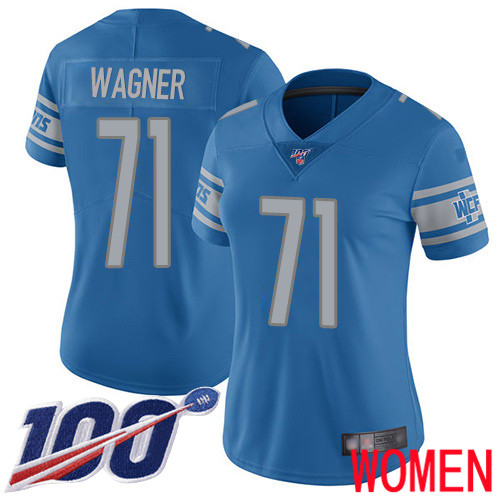 Detroit Lions Limited Blue Women Ricky Wagner Home Jersey NFL Football 71 100th Season Vapor Untouchable