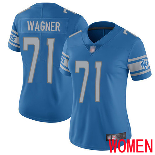 Detroit Lions Limited Blue Women Ricky Wagner Home Jersey NFL Football 71 Vapor Untouchable