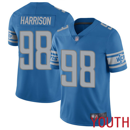 Detroit Lions Limited Blue Youth Damon Harrison Home Jersey NFL Football 98 Vapor Untouchable