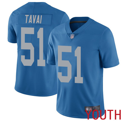 Detroit Lions Limited Blue Youth Jahlani Tavai Alternate Jersey NFL Football 51 Vapor Untouchable