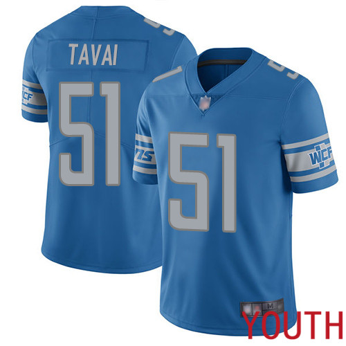 Detroit Lions Limited Blue Youth Jahlani Tavai Home Jersey NFL Football 51 Vapor Untouchable