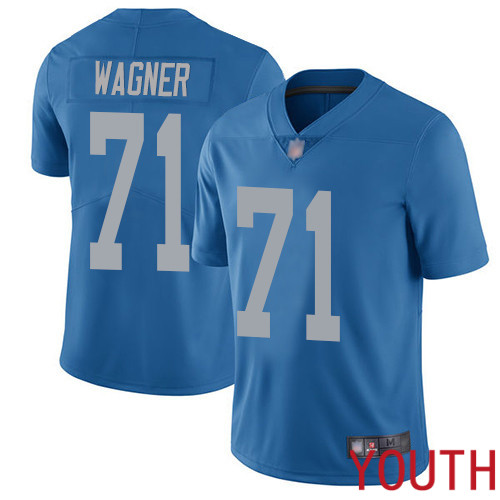 Detroit Lions Limited Blue Youth Ricky Wagner Alternate Jersey NFL Football 71 Vapor Untouchable