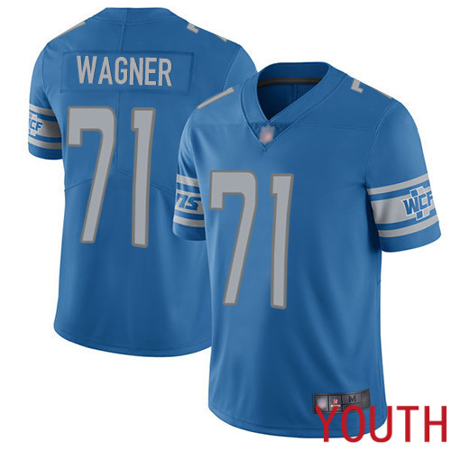 Detroit Lions Limited Blue Youth Ricky Wagner Home Jersey NFL Football 71 Vapor Untouchable
