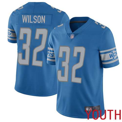 Detroit Lions Limited Blue Youth Tavon Wilson Home Jersey NFL Football 32 Vapor Untouchable
