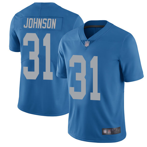 Detroit Lions Limited Blue Youth Ty Johnson Alternate Jersey NFL Football 31 Vapor Untouchable