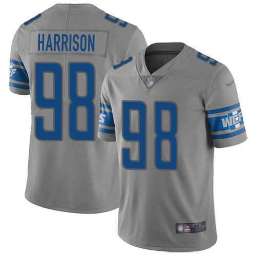 Detroit Lions Limited Gray Men Damon Harrison Jersey NFL Football 98 Inverted Legend