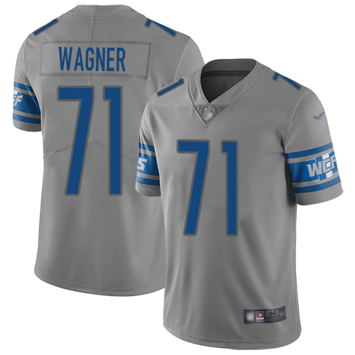 Detroit Lions Limited Gray Men Ricky Wagner Jersey NFL Football 71 Inverted Legend