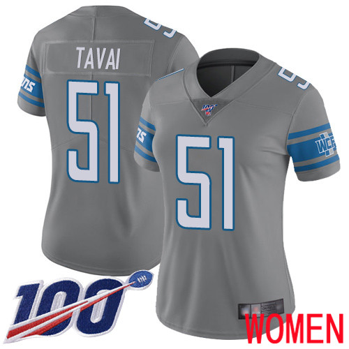 Detroit Lions Limited Steel Women Jahlani Tavai Jersey NFL Football 51 100th Season Rush Vapor Untouchable