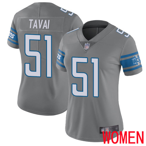 Detroit Lions Limited Steel Women Jahlani Tavai Jersey NFL Football 51 Rush Vapor Untouchable