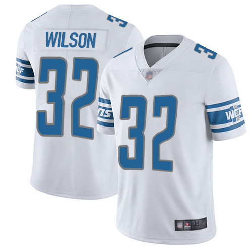 Detroit Lions Limited White Men Tavon Wilson Road Jersey NFL Football 32 Vapor Untouchable